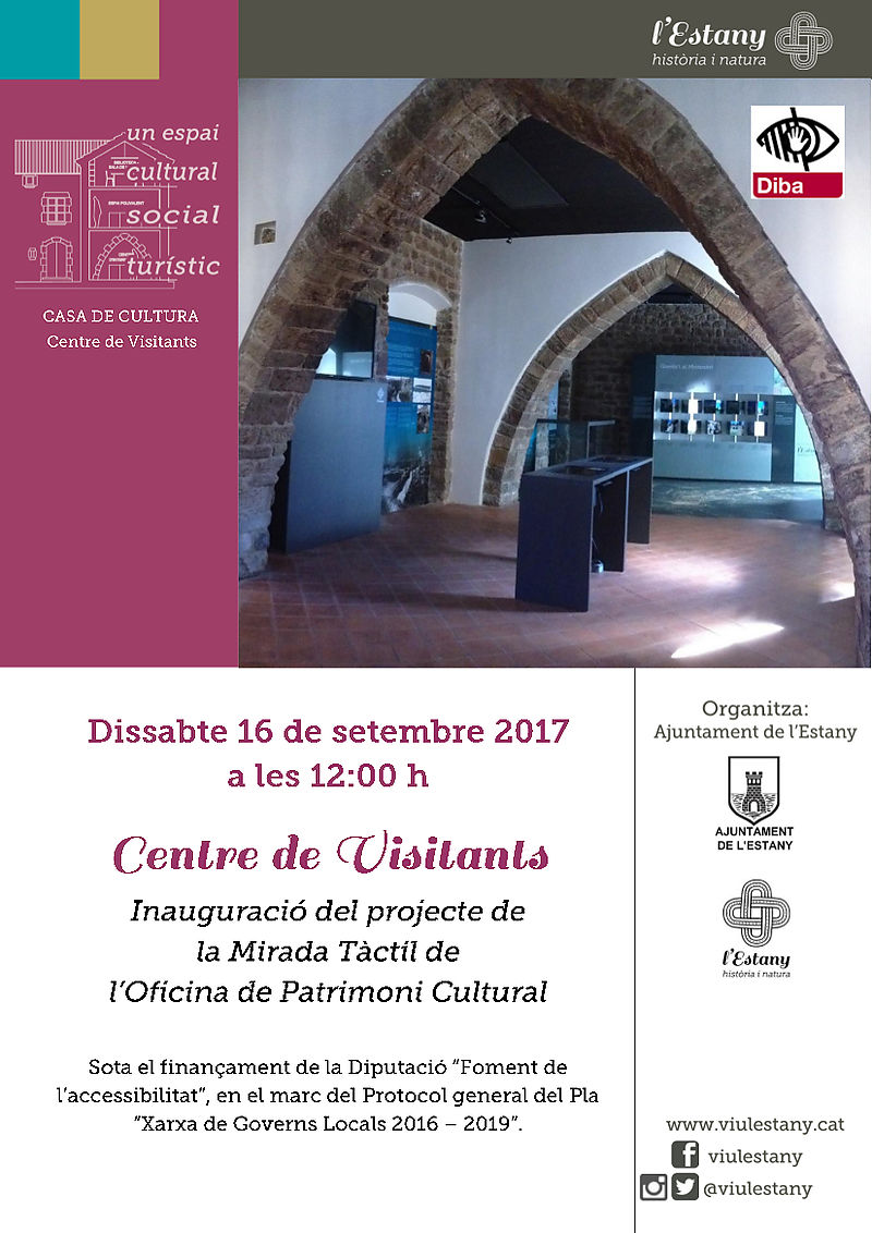 Inauguration of the MIRADA TÀCTIL project, of the Office of Cultural Heritage.