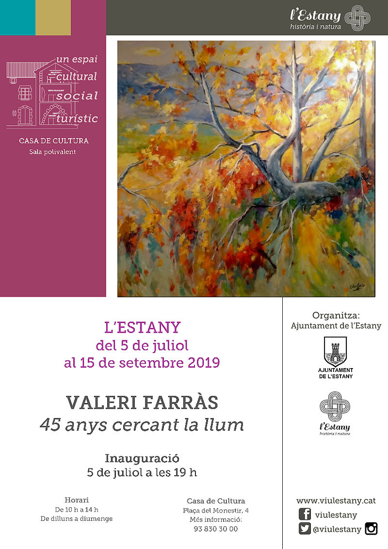 EXHIBITION: VALERI FARRÀS. 45 YEARS LOOKING FOR LIGHT